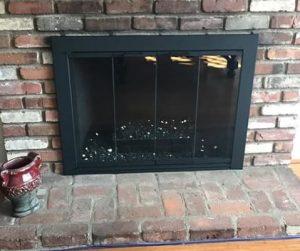 puerta chimenea barata