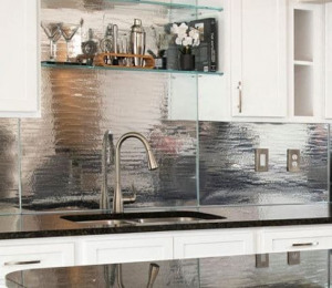panel de vidrio de cocina