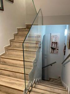 barandilla cristal escalera interior