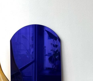 espejo color azul lacado