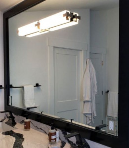 espejo blanco de pared