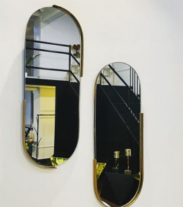 espejo redondo con luz
