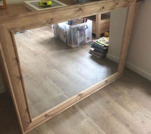 espejo rectangular pared