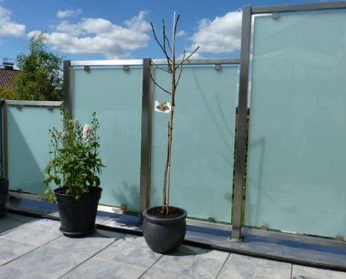 mampara paravientos terraza
