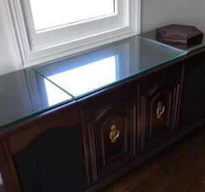 mesa tablero cristal