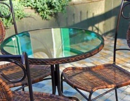 cristal mesa redondo