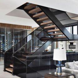 barandilla escalera vidrio ahumado