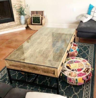 cristal tapa mesa