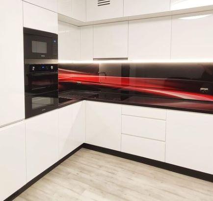 salpicadero cocina de cristal
