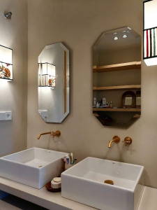 espejos de baño con apliques