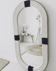 espejo joyero de pared