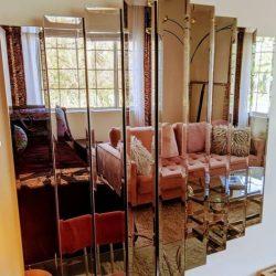 espejo pared ahumado