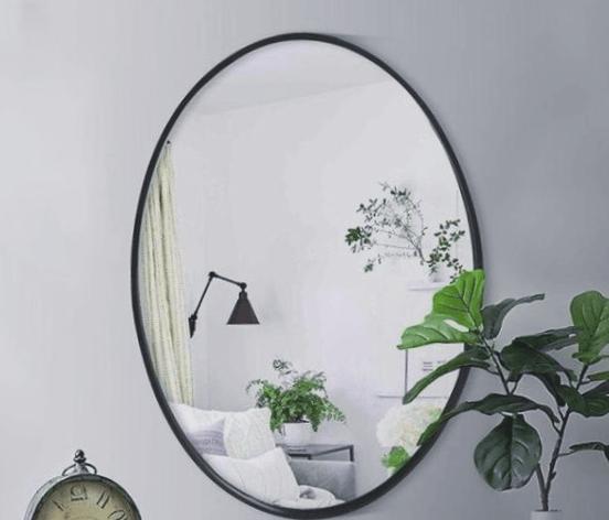 espejo redondo biselado