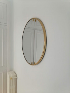 espejo redondo negro