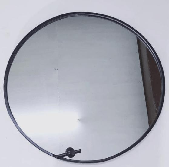 espejo redondo color plata