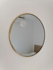 espejo redondo de madera