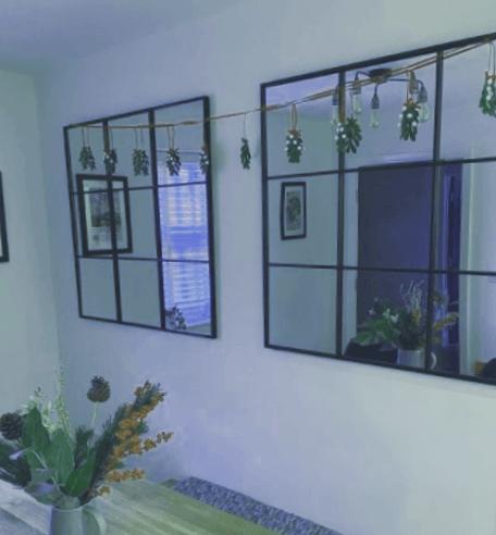 cristal ventana efecto espejo