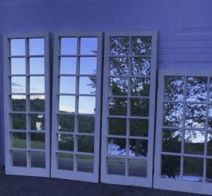 espejos ventana negro