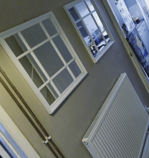 espejo ventana recibidor