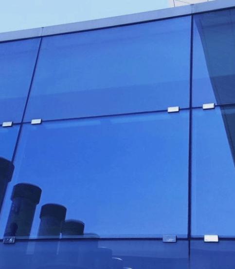 fachada cristal templado