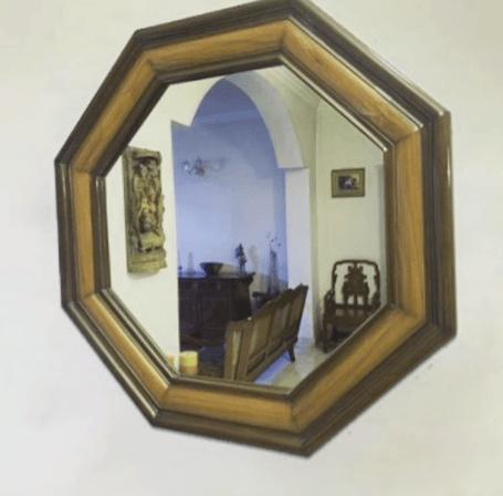 espejos redondos de madera