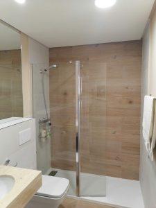 puerta de cristal ducha mampara