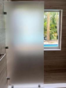 mampara rectangular ducha opaca