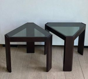 mesa cristal ahumado a medida