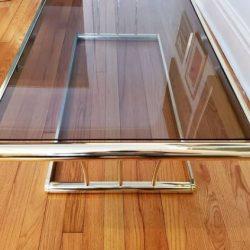 mesa cristal ahumado