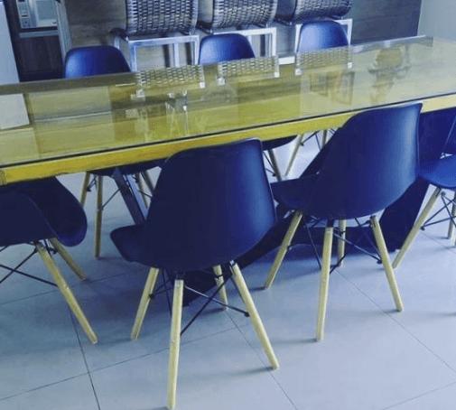 protector mesa cristal comedor