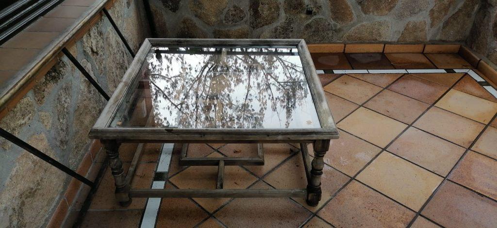 cristal mesa rectangular madrid
