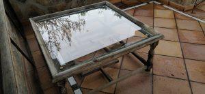 tablero mesa vidrio