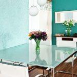 mesa cristal opaco