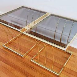 mesa vidrio ahumado madrid