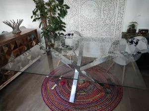 cristal mesa cuadrada