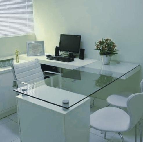 mesa escritorio cristal templado
