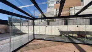 cerramientos de escalera de vidrio