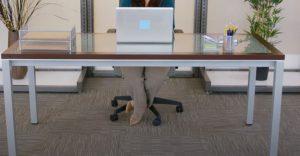 tablero mesa cristal oficina