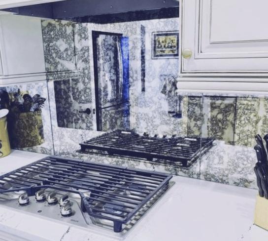 vidrio templado para salpicadero de cocina